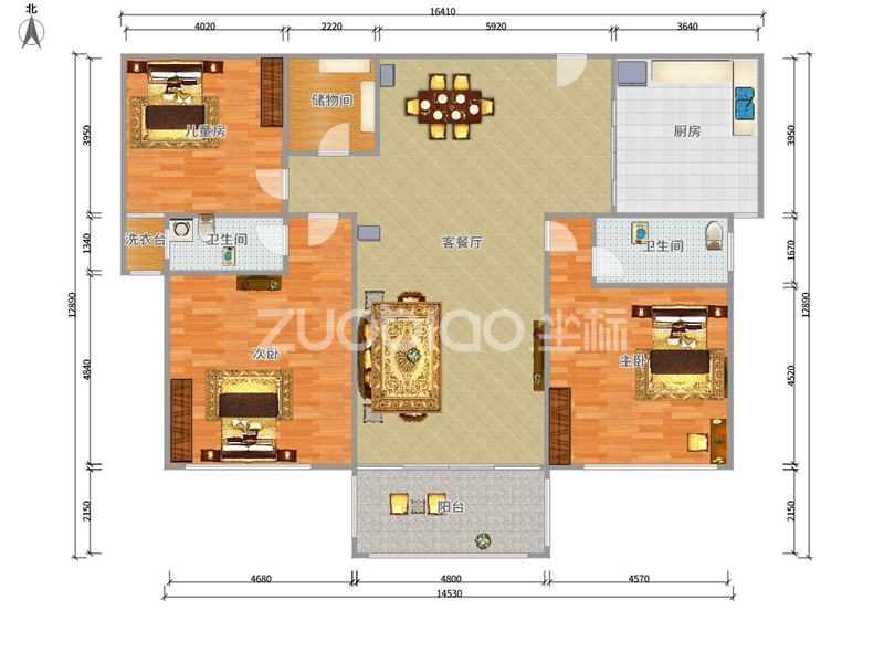 欧景名城 3室2厅 398万