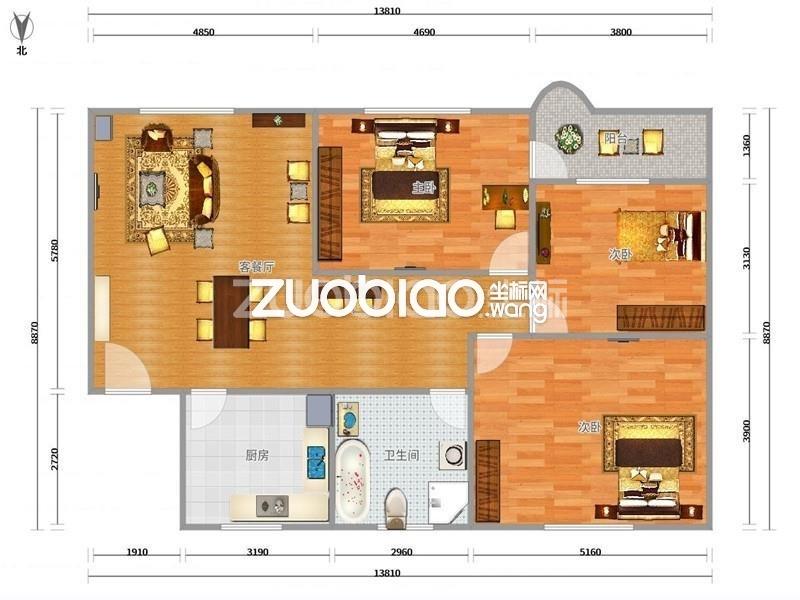 柳园小区 3室2厅 258万