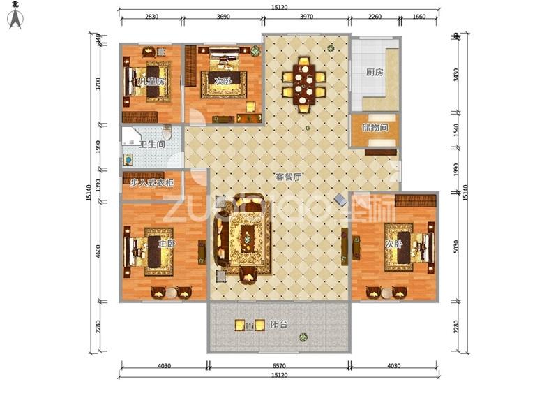 芳草园 3室2厅 320万