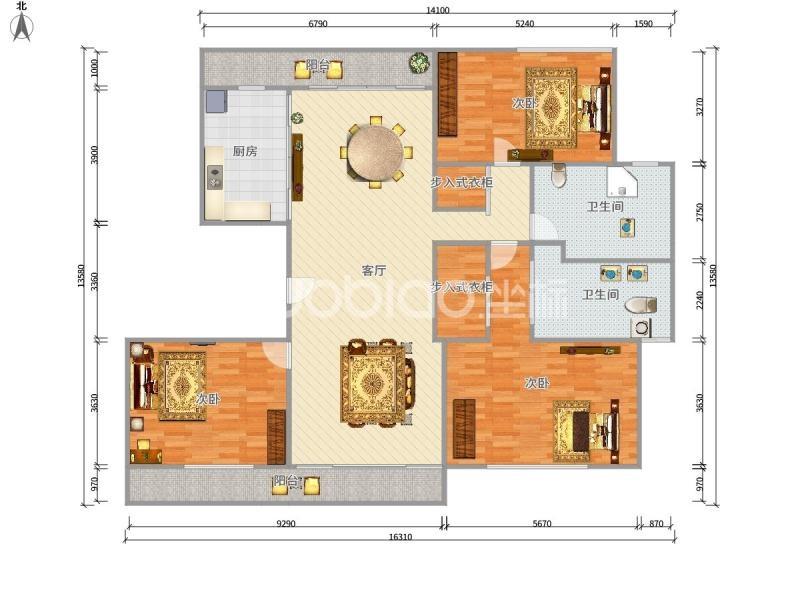 和聚沁园 3室2厅 410万