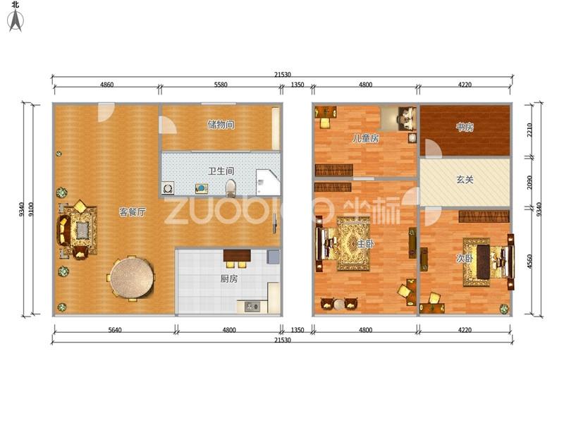 经贝家园 4室2厅 176万