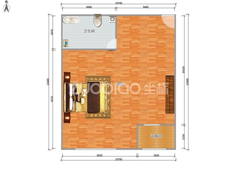 白金公寓 1室1厅 198万