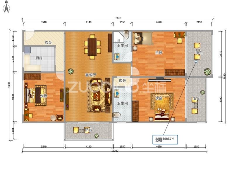 紫荆公寓 3室2厅 179万