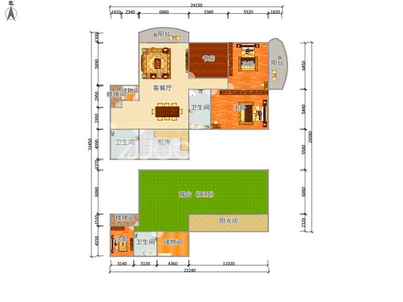 時代廣場 5室3廳 389萬