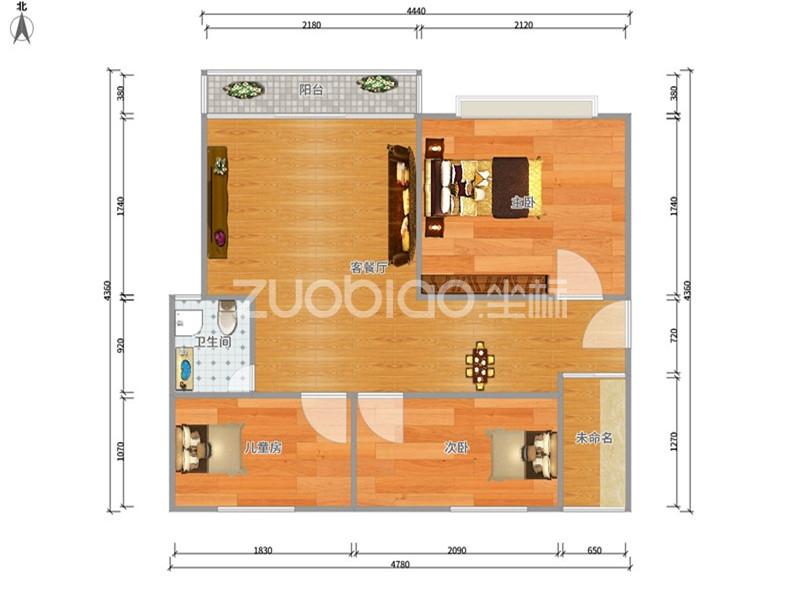 富港花园 3室2厅 198万