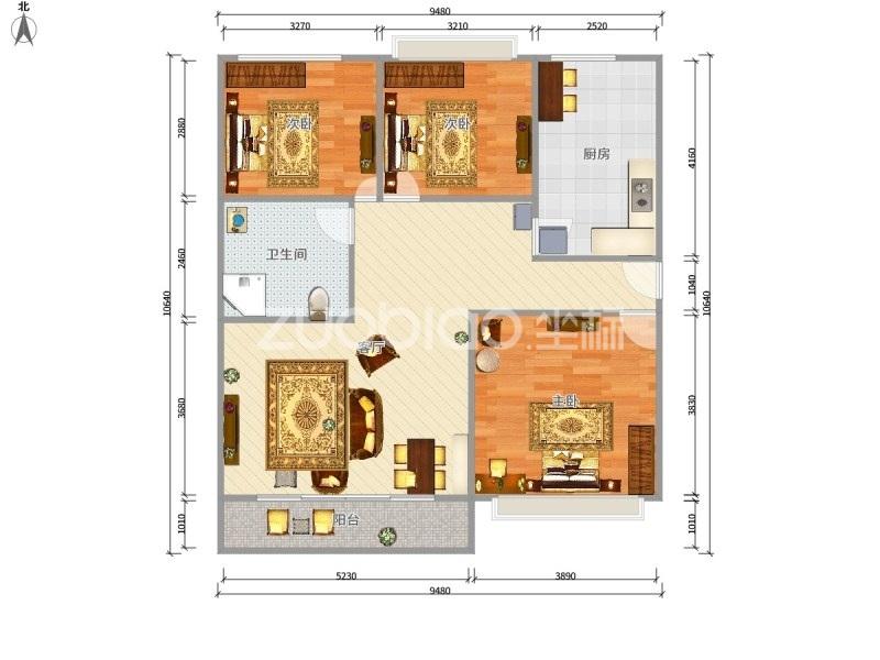 富港花园 2室1厅 182万