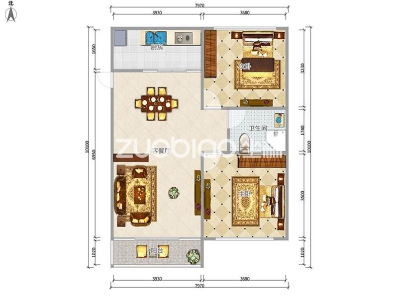 紫荆公寓 3室2厅 125万