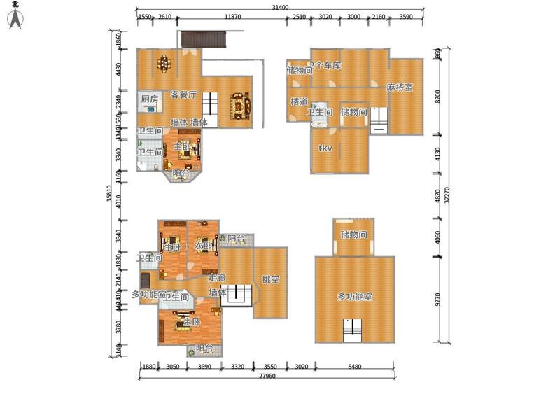 紫荆庄园一期 9室9厅 1300万
