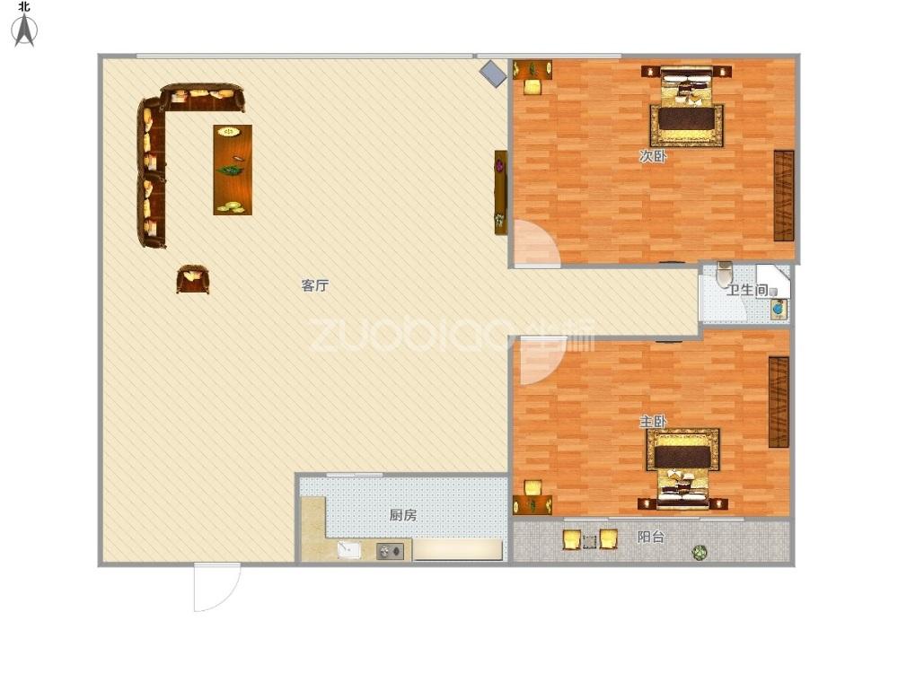 嘉禾广场 2室2厅 275万