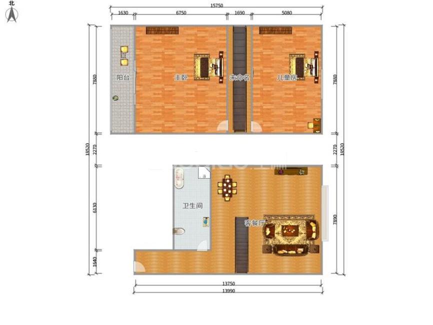 汇金大厦(工人北路) 1室1厅 199万