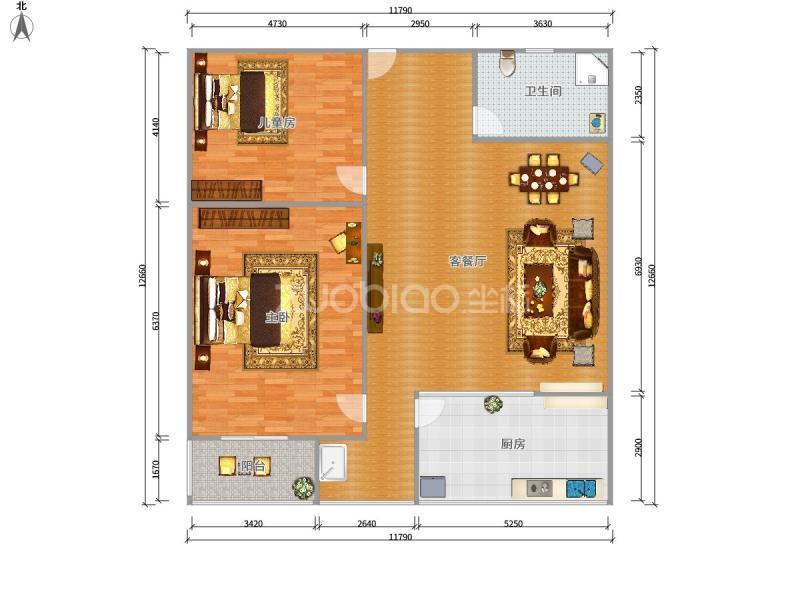 贝村路 2室1厅 152万