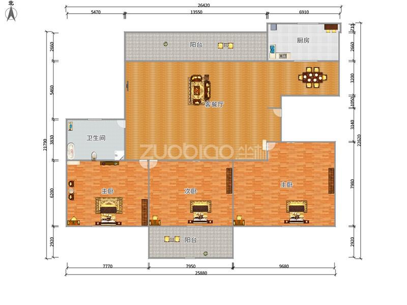 荷塘雅居 3室2廳 220萬