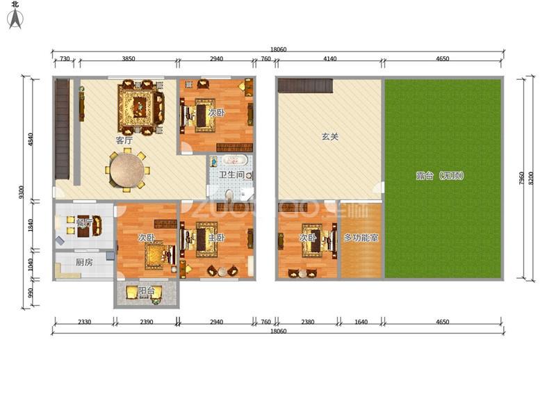 香山小区 3室2厅 230万