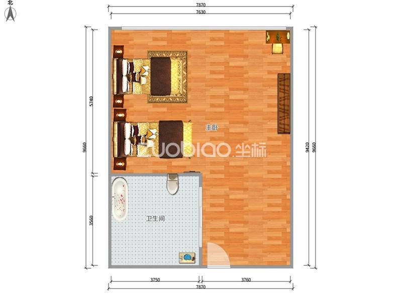 新马路公寓 1室1厅 205万