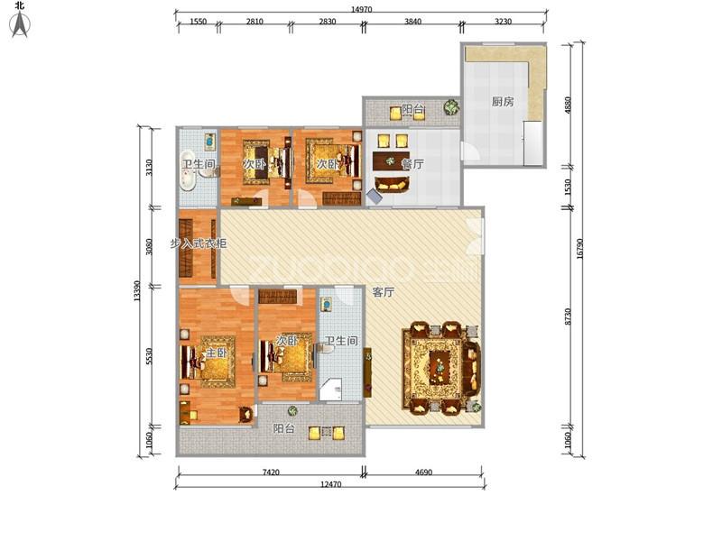 荷塘月色 4室2厅 380万