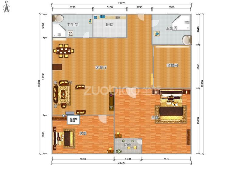 沪江公寓 3室2厅 170万