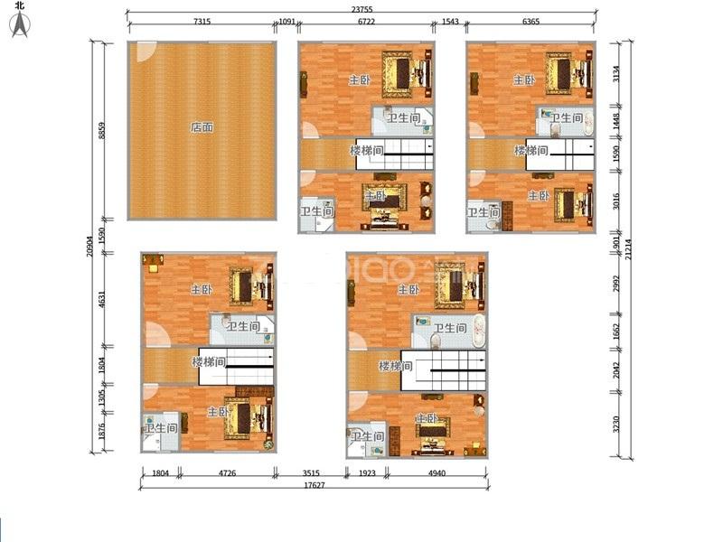 宾王商贸区 1室1厅 618万