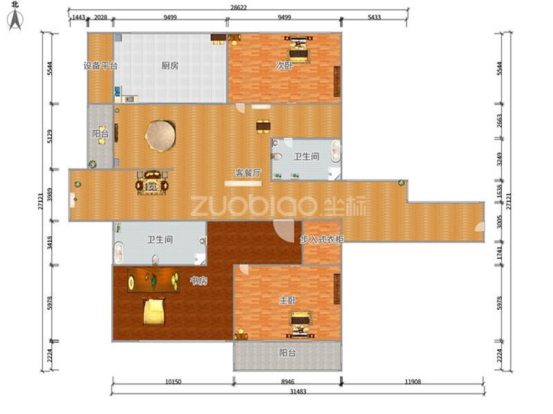 欧景名城 3室2厅 498万