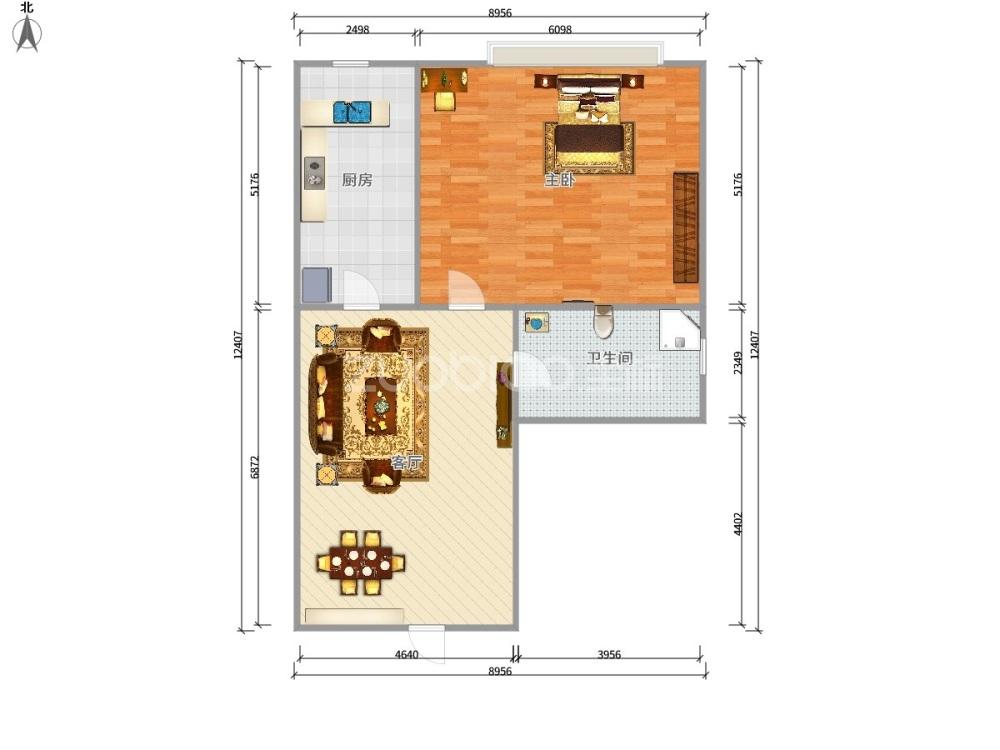 城市花园(套房) 1室1厅 115万