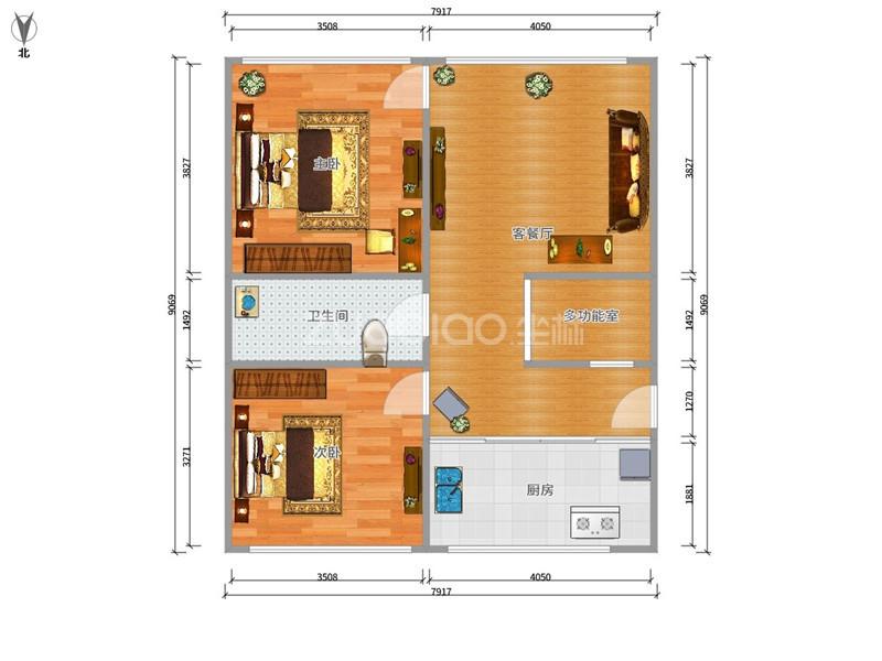 鵬城小區 3室2廳 173萬