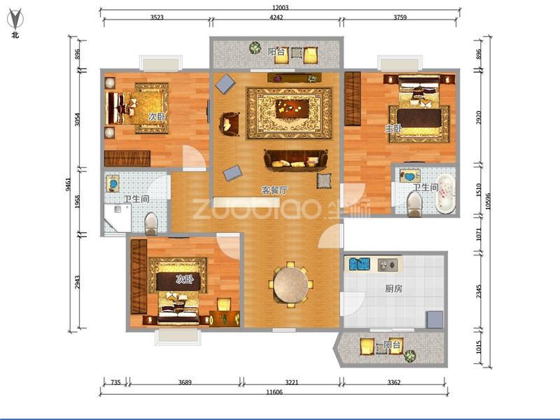 現代城 3室2廳 378萬