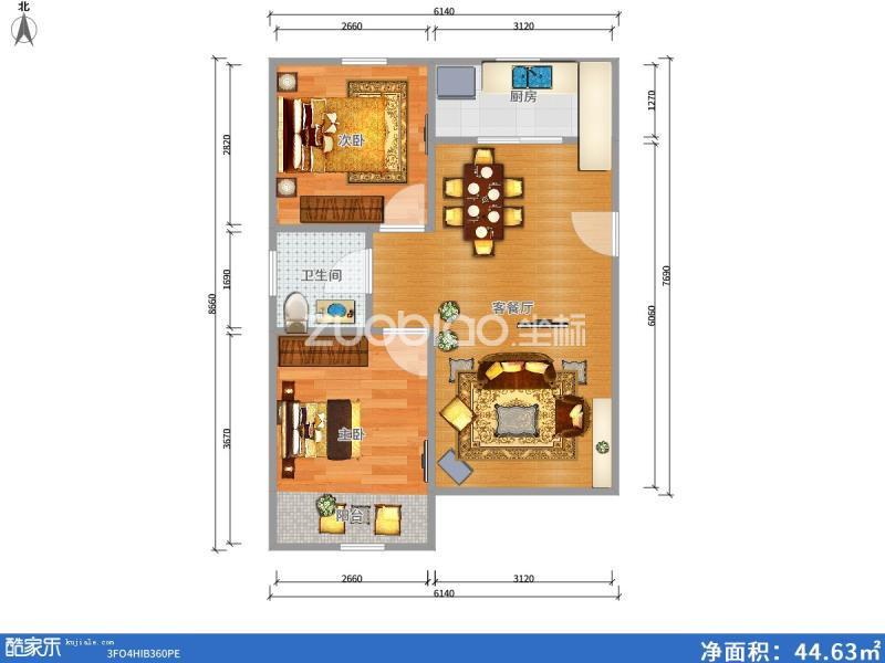 鵬城小區 2室1廳 145萬