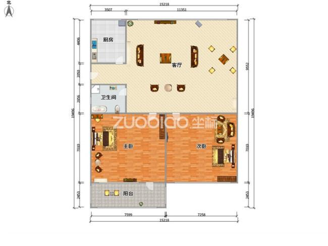 江東商苑 2室1廳 188萬