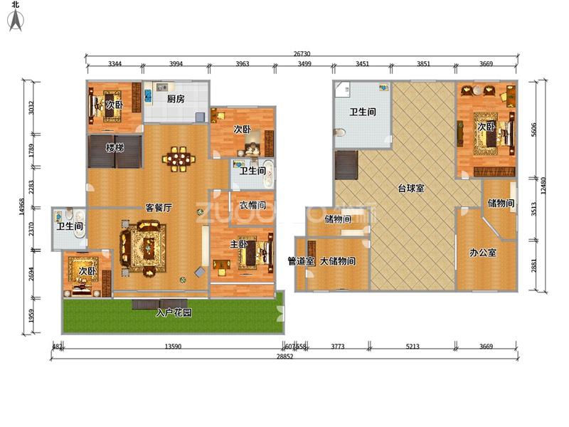 东方之星 6室4厅 285万