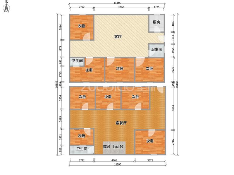 賦城小區 6室2廳 325萬