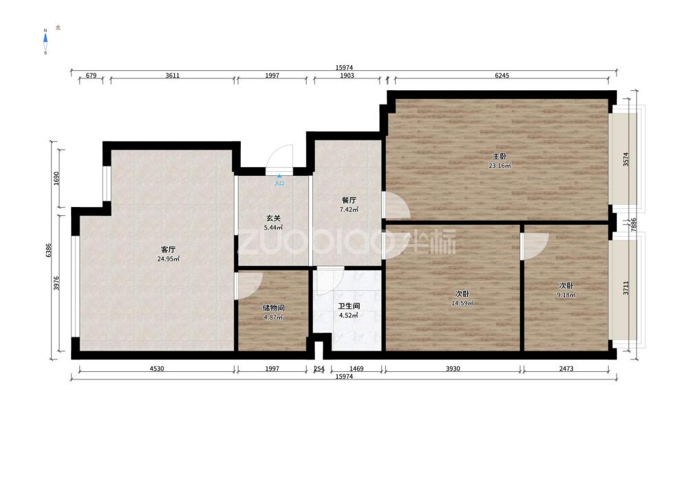 總部經濟公館(套房) 3室2廳 200萬