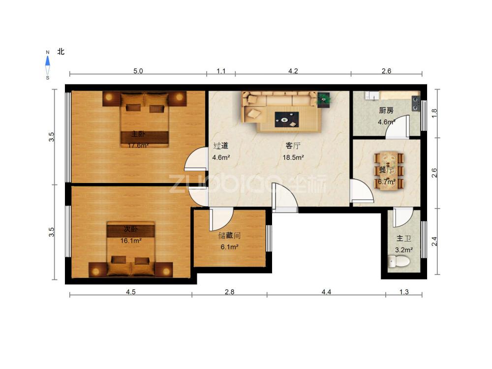 江東中路 3室2廳 206萬