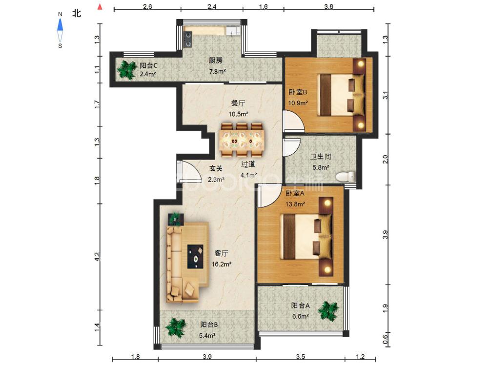 東方之星 3室1廳 175萬
