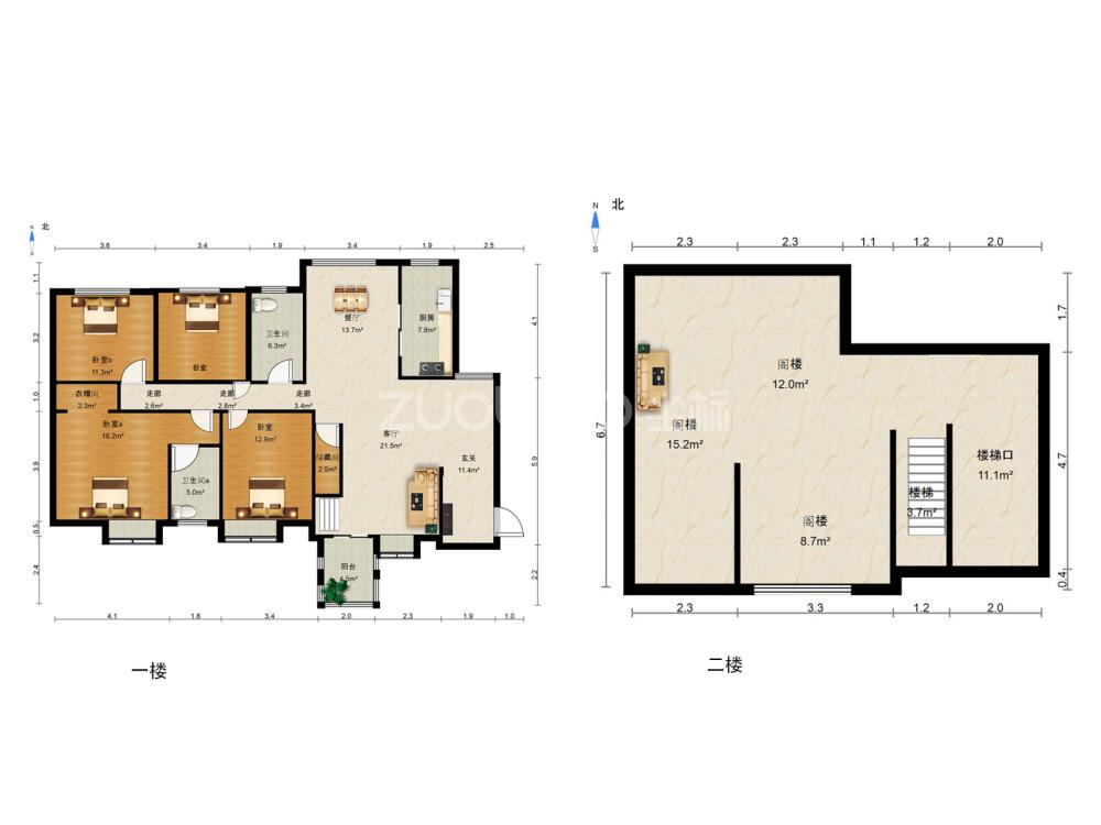 名仕家园 4室3厅 412万