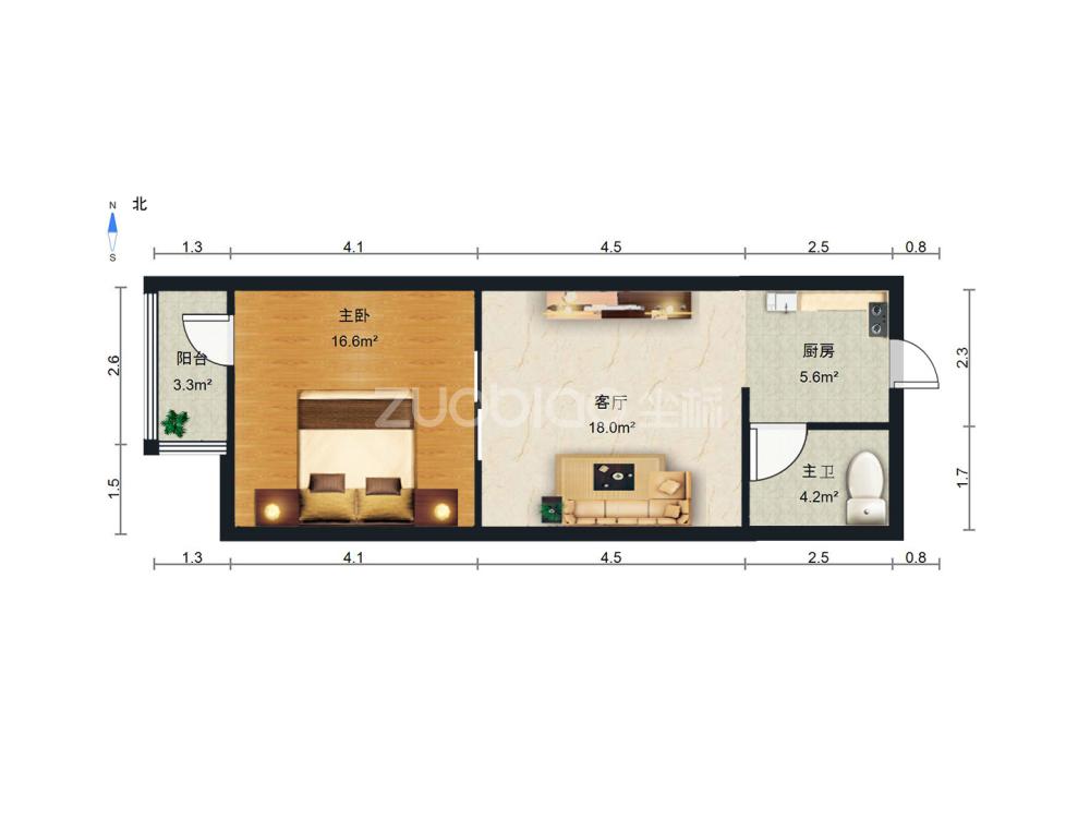 星辰广场(春晓美墅) 1室1厅 145万