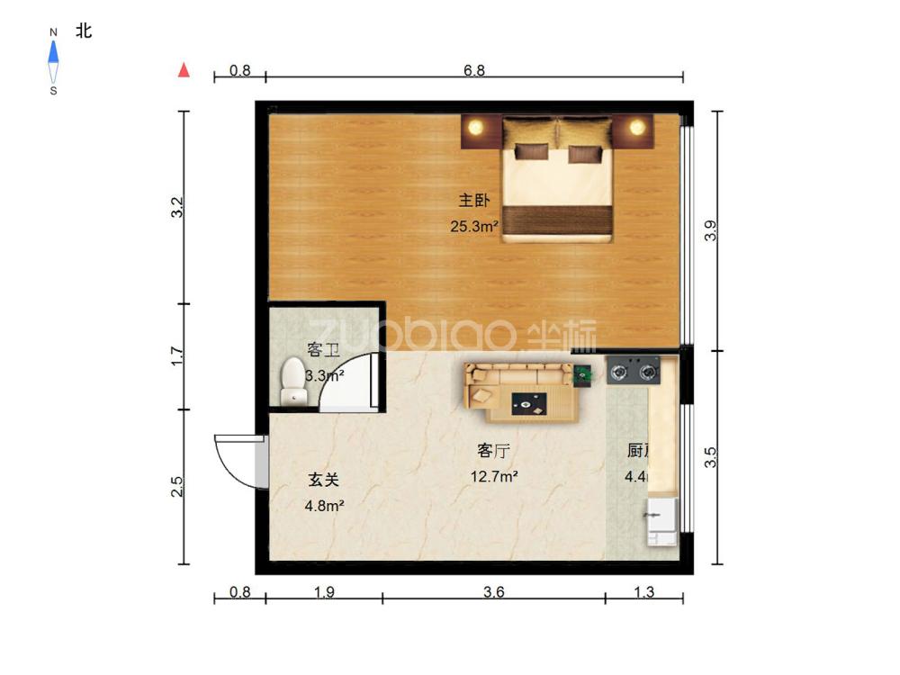 錦繡篁園 2室2廳 145萬