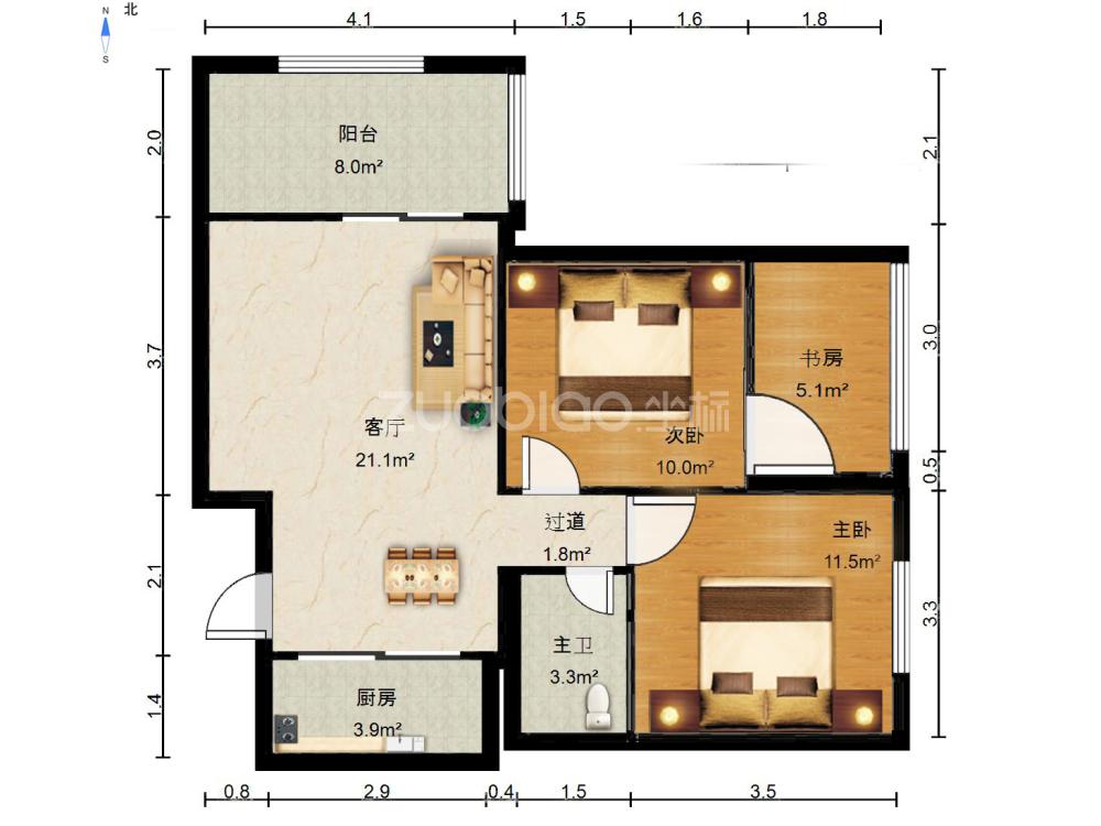 新馬路公寓 1室1廳 450萬