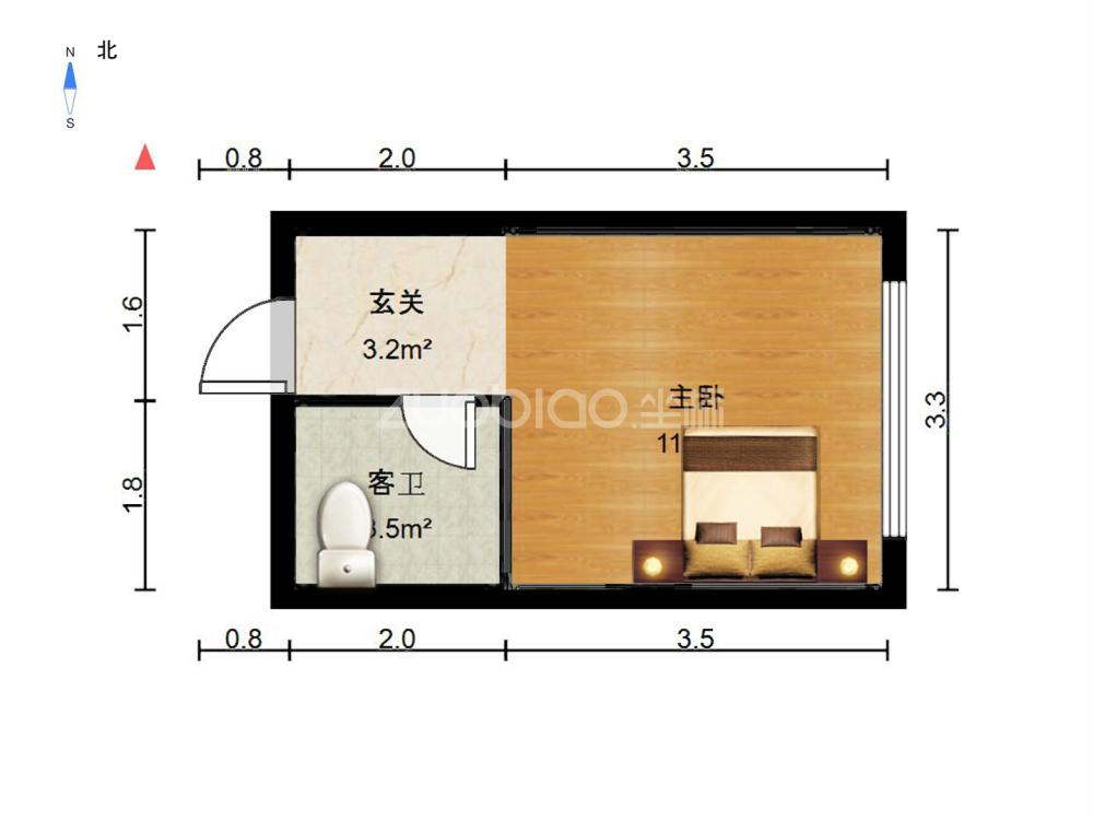 江東南路 1室1廳 120萬