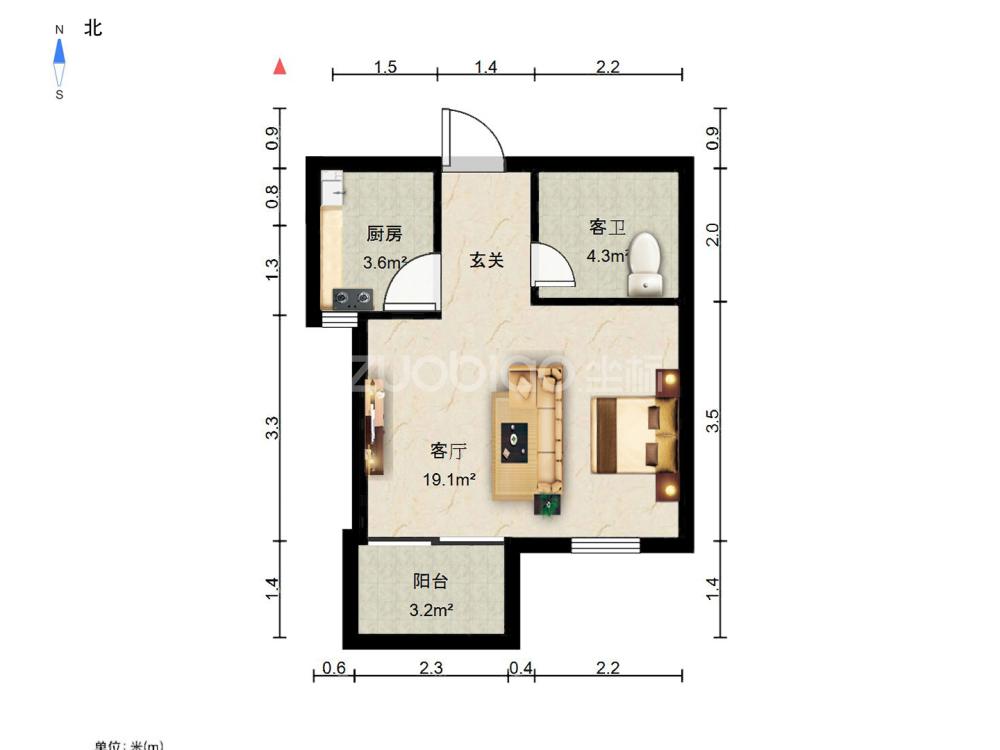 江南三區 1室1廳 165萬