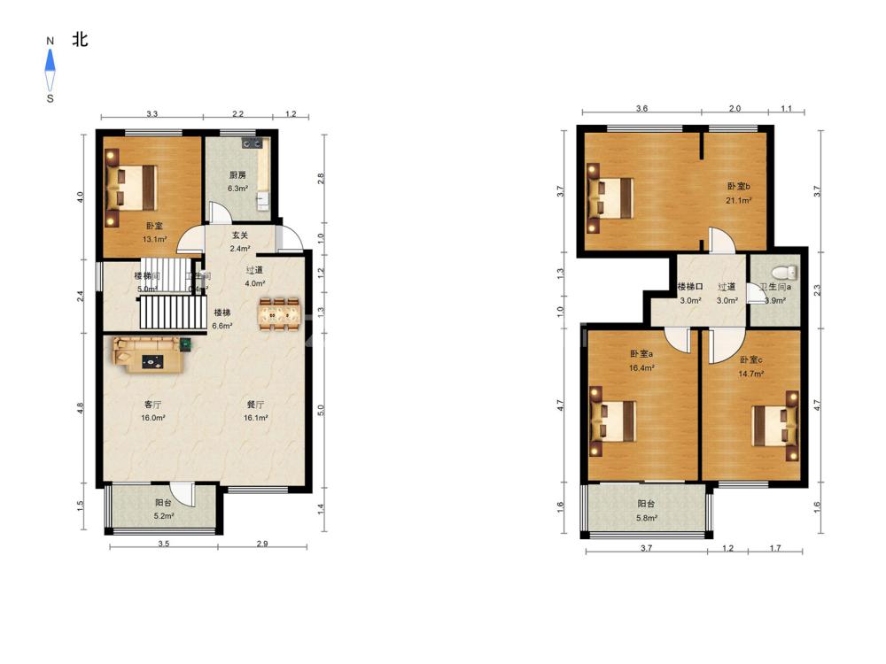 梅園小區 4室2廳 600萬