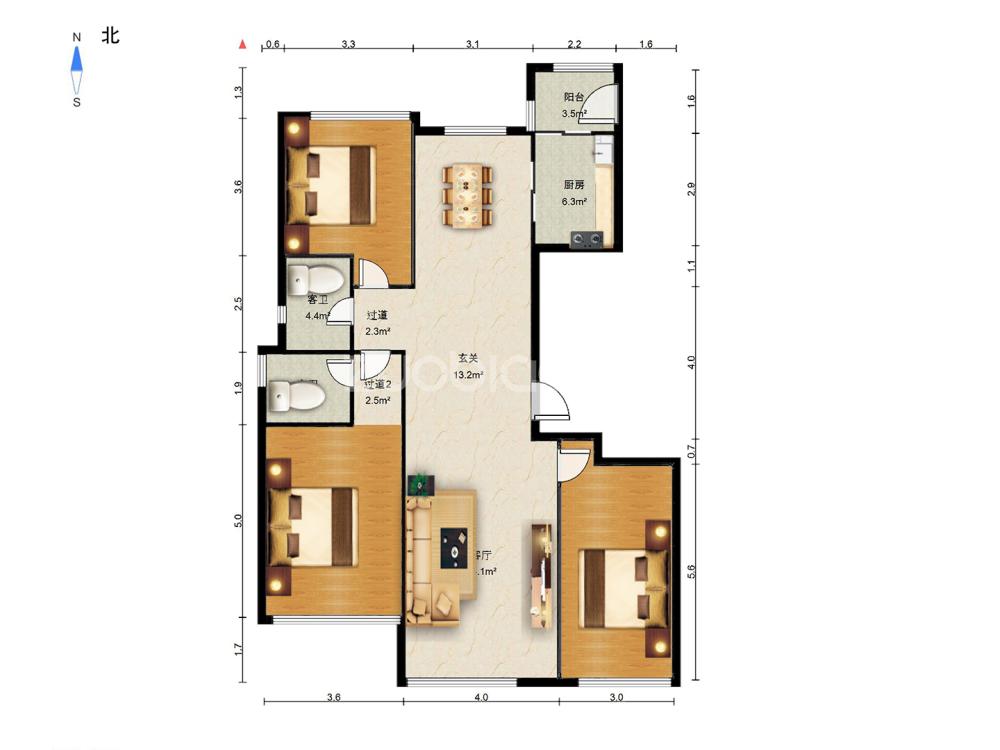 紫荊公館 3室2廳 265萬