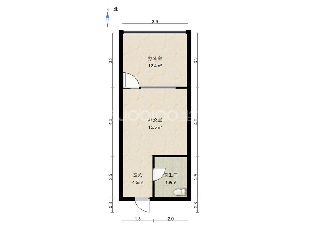 雪峰銀座 1室1廳 66萬