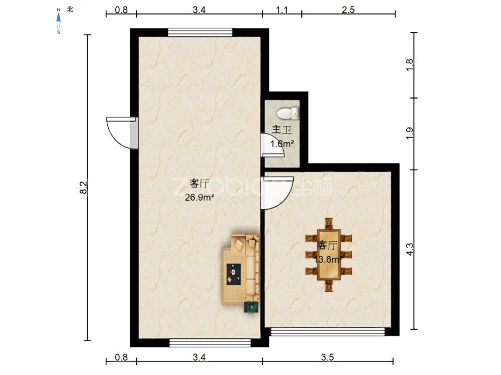 南陳小區 1室1廳 239萬